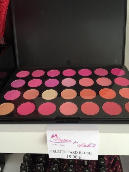 Palette fard blush