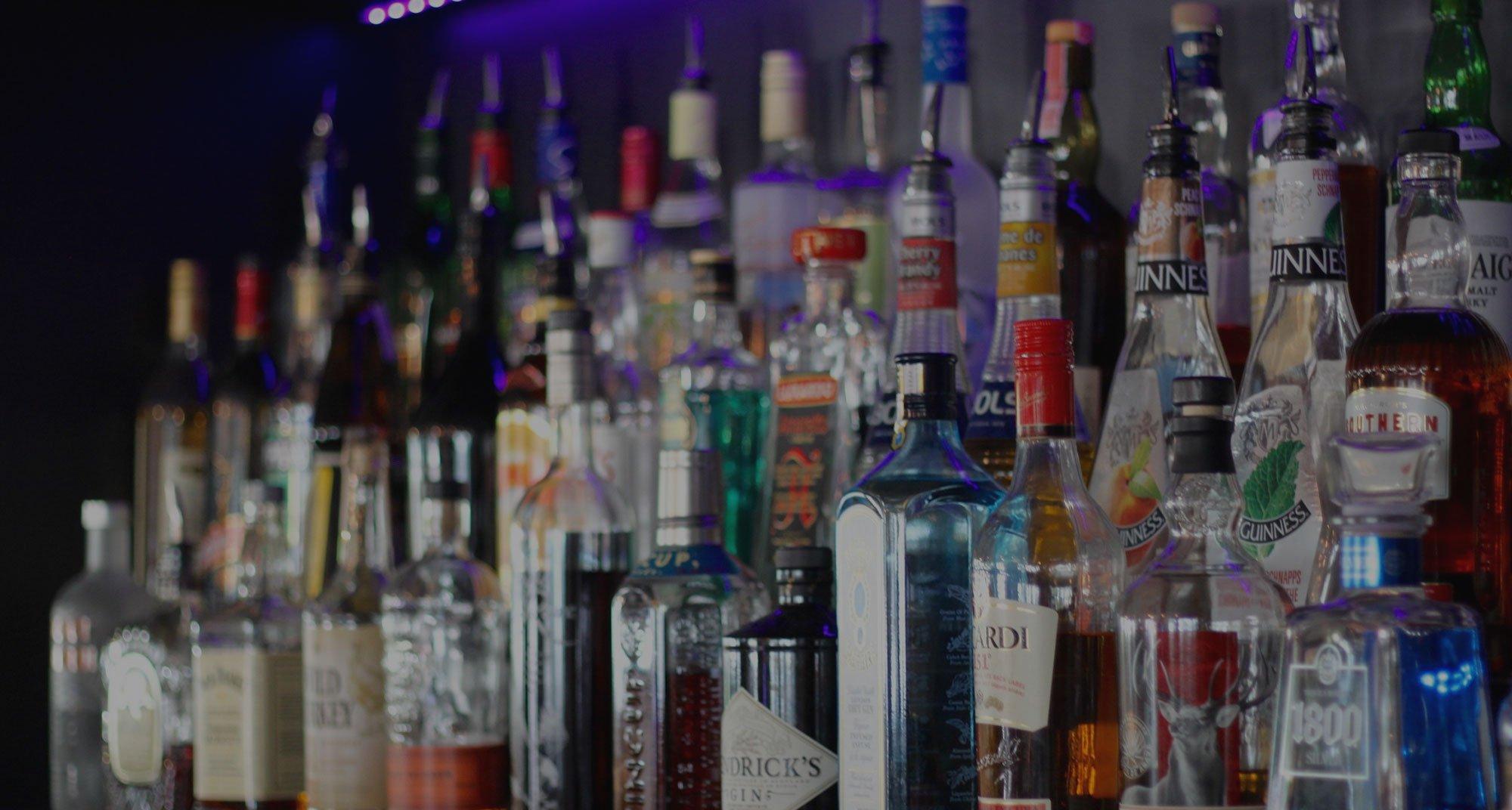 Liquor selection at the bar