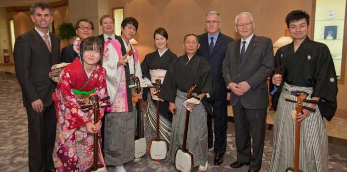 2013 Shinnenkai with Ambassador Mackenzie Clugston