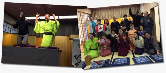 Canadians watch English Rakugo in Kyoto