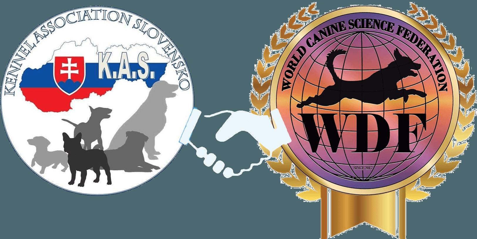Kennel Association Slovensko - logo e World Kennel Union - logo