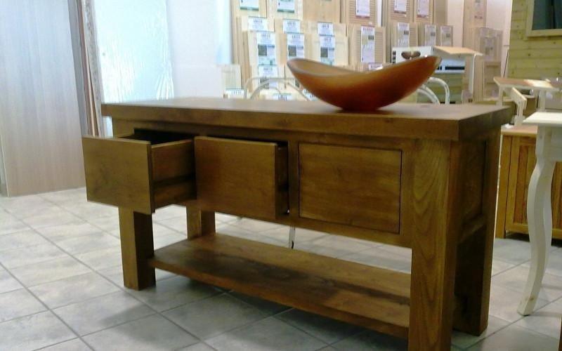 Consolle in legno su misura