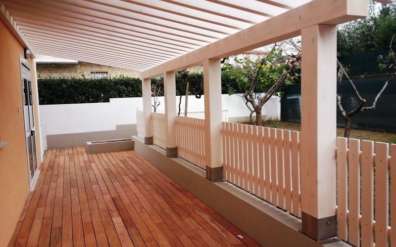 Parquet per veranda esterna