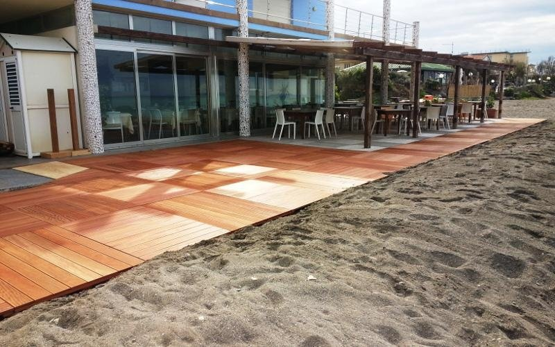 Pavimentazione per spiaggia