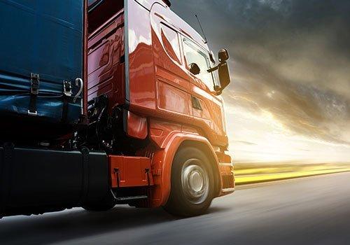 camion in velocità