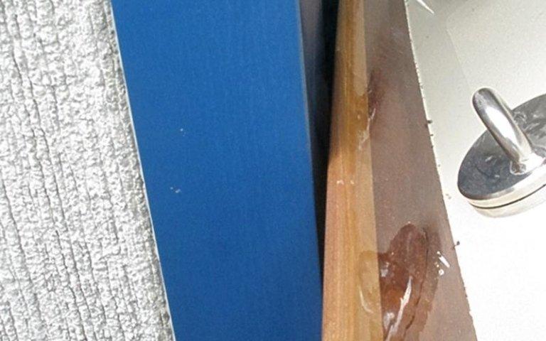 Parte di barca in legno