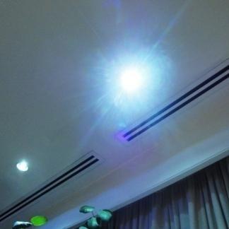 Punti luce sul soffitto