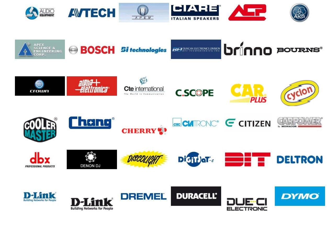 logo di imprese nel campo dell`elettronica