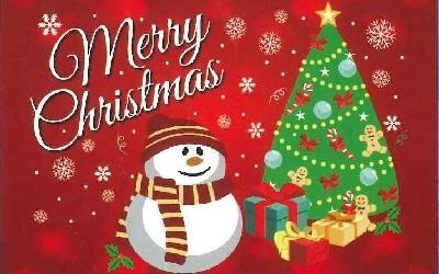 Tappeto natalizio pupazzo di neve Lusa Renzo Pavimenti