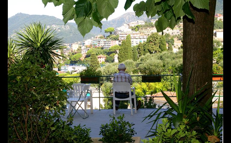terrazzo con vista sul golfo
