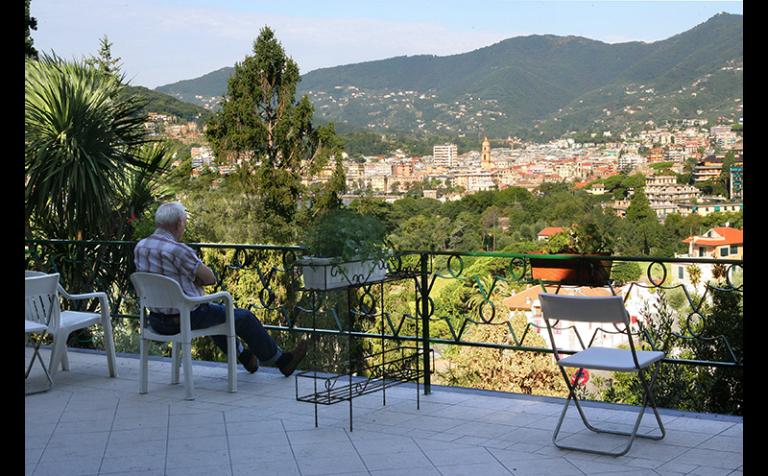 terrazzo con vista rapallo