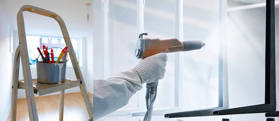 painter using a spray gun