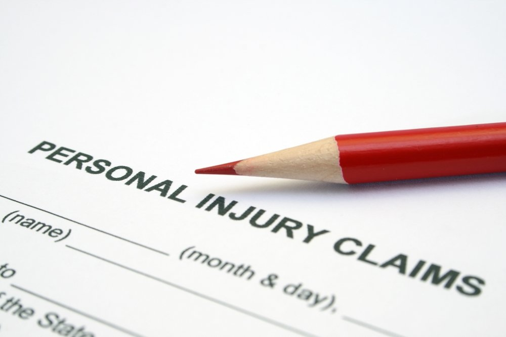 Personal injury  claim form image