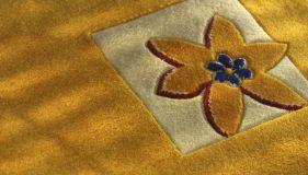 Clean floral  carpet