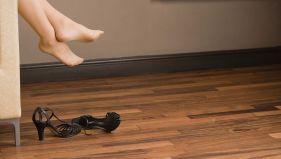 Polished floorboards