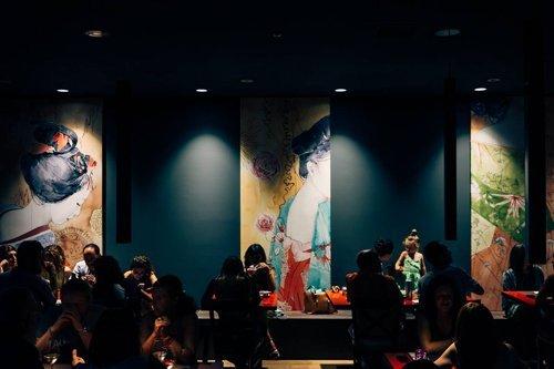 Vista d'Interni del ristorante giapponese Daifuku