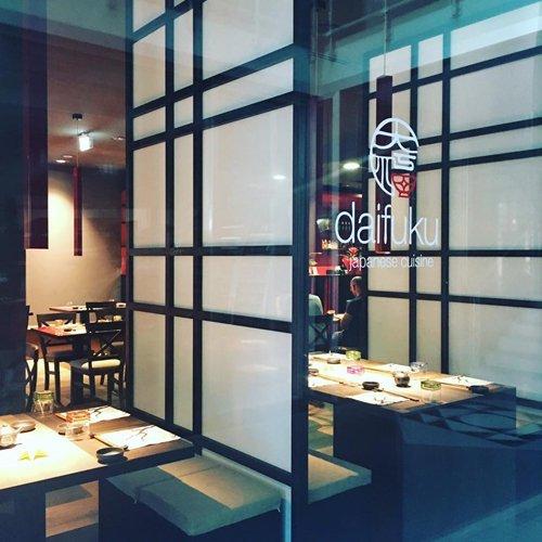 Dettaglio d'interni del ristorante giapponese Daifuku