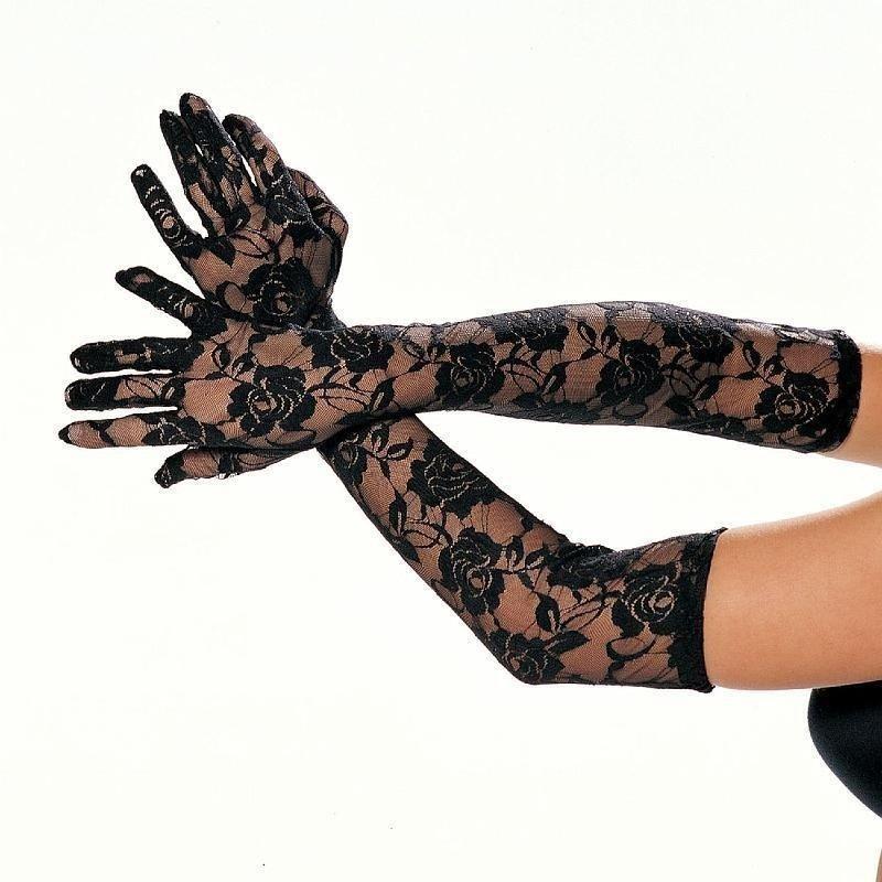 guanti lunghi in pizzo