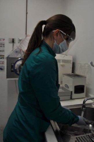 infermiere professionali, acqua, studio dentistico