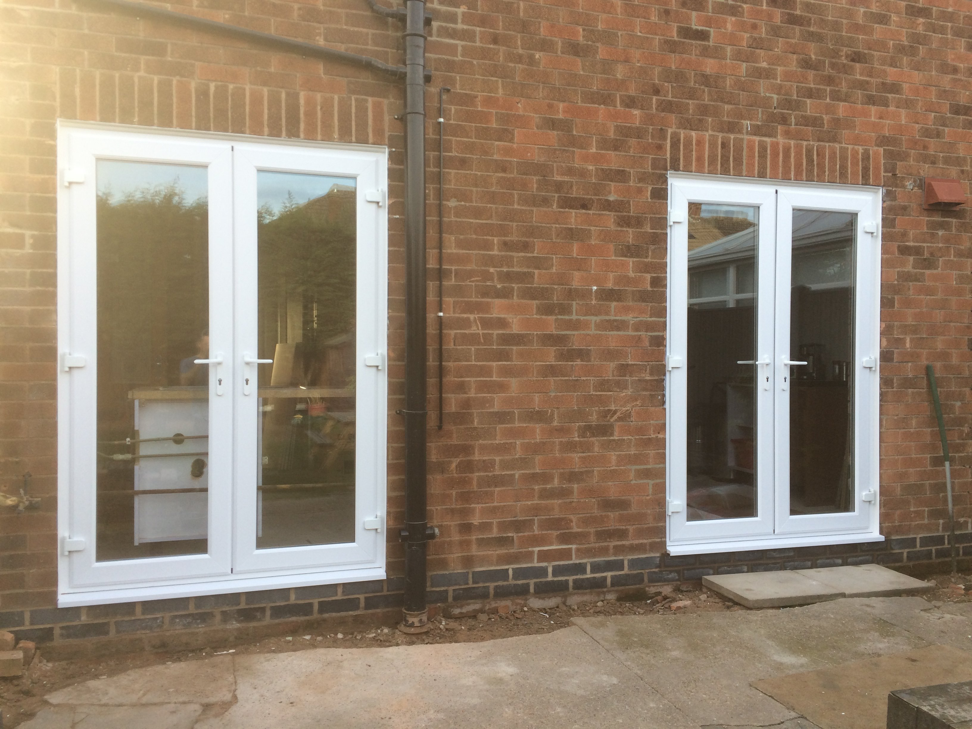 Windows To French Doors After