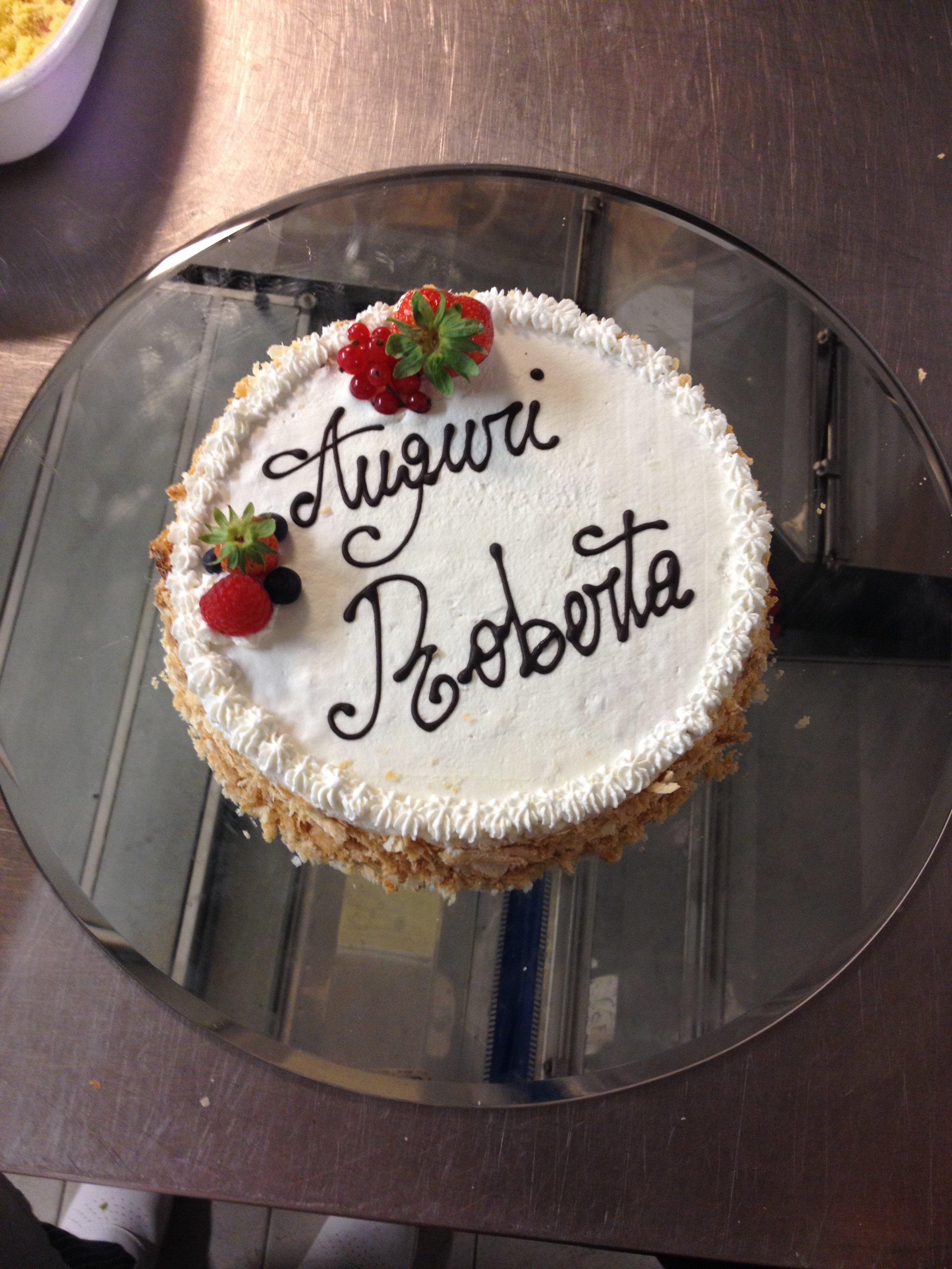 torta di compleanno per Roberta