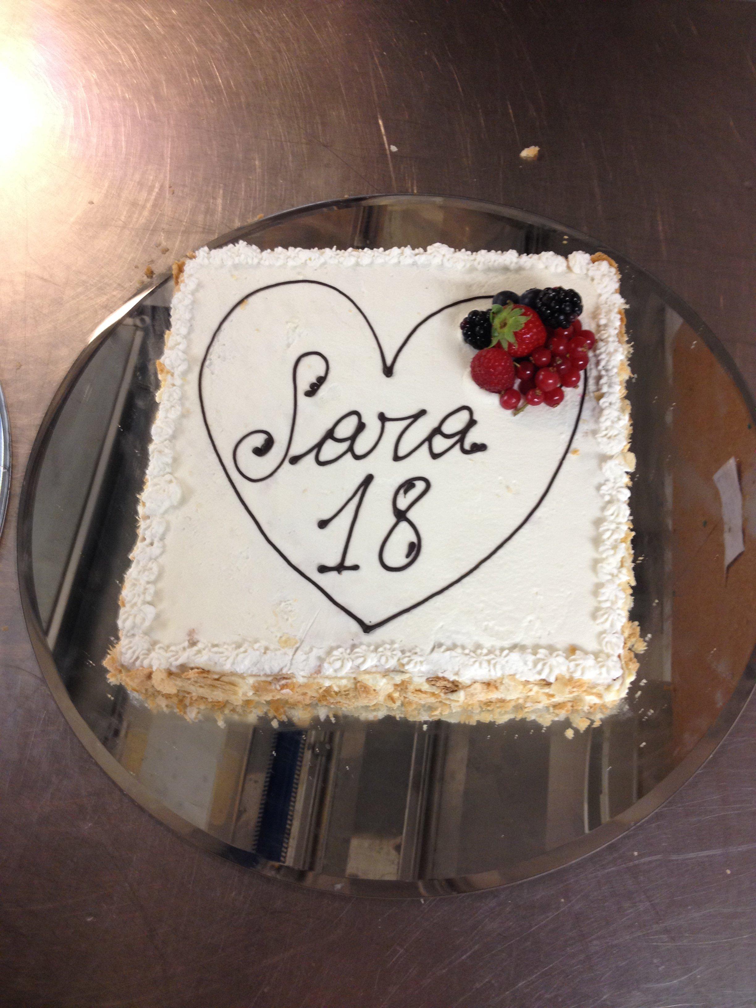 torta per diciotto anni