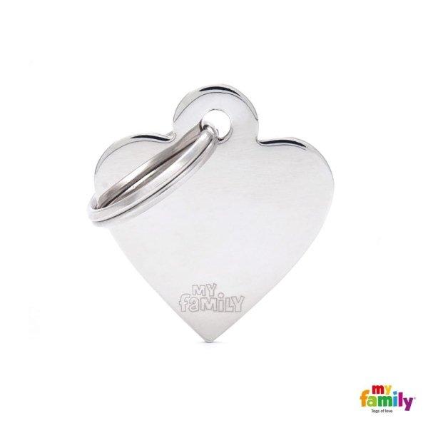 medaglietta cuore bianco