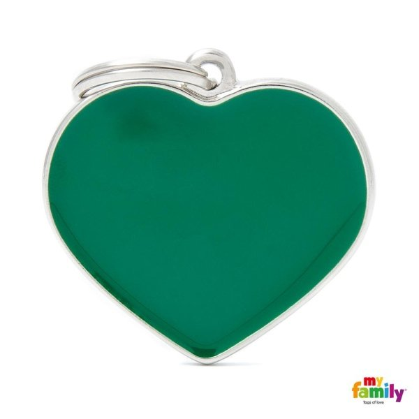 ciondolo cuore verde