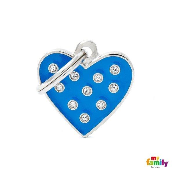 portachiave a forma di cuore blu