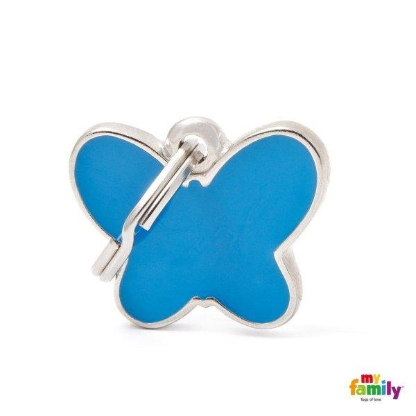 portachiave a forma di farfalla