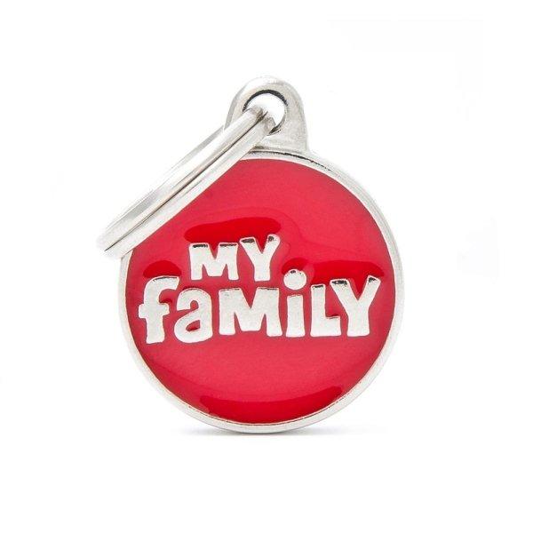 portachiave scritto my family