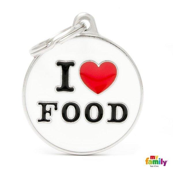 portachiave con scritta i love food