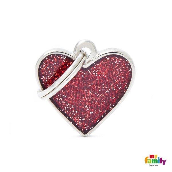 ciondolo rosa a forma di cuore