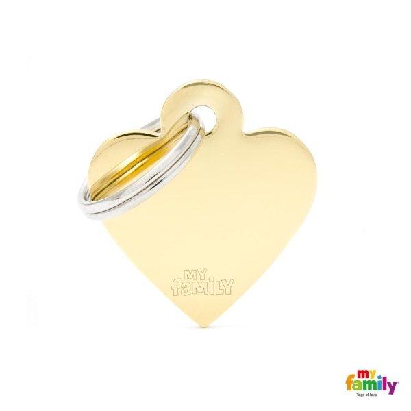 medaglietta cuore giallo