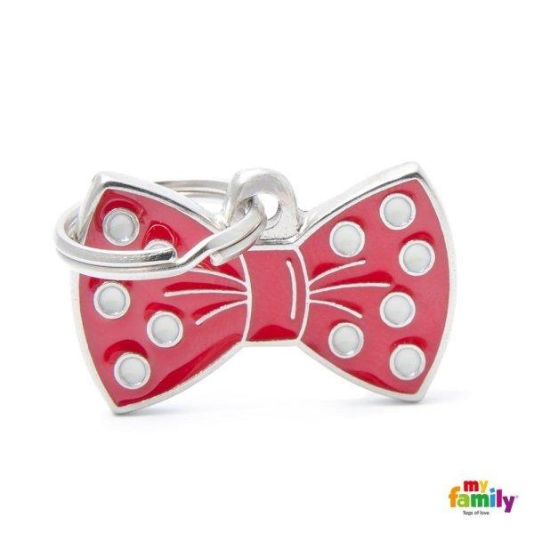 portachiave in forma di Cornette con colore rosso