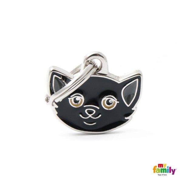 portachiave a forma di gatto nero