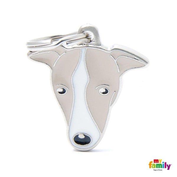 portachiave a forma di cane bianco