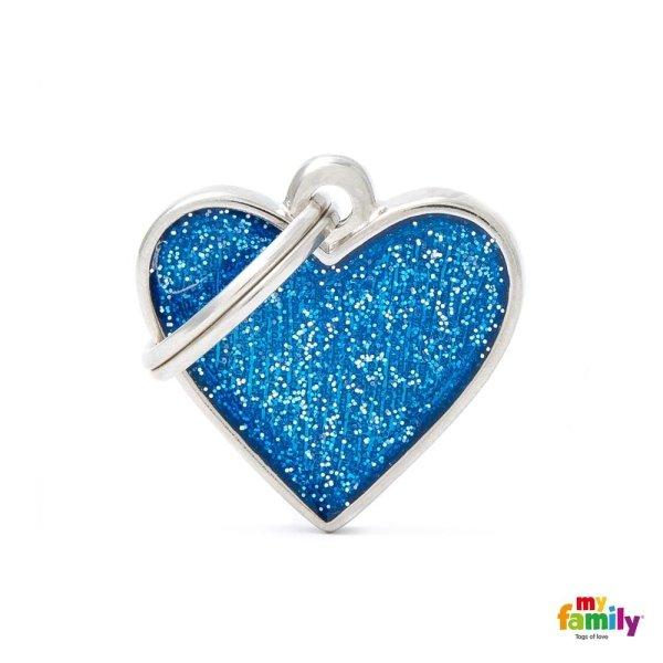ciondolo azzurro a forma di cuore