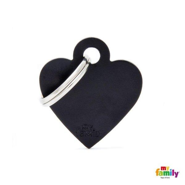 medaglietta cuore nero