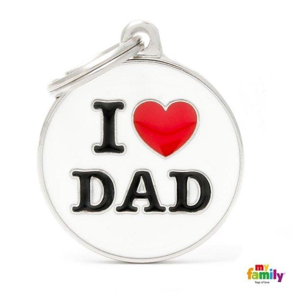 portachiave con scritta i love dad