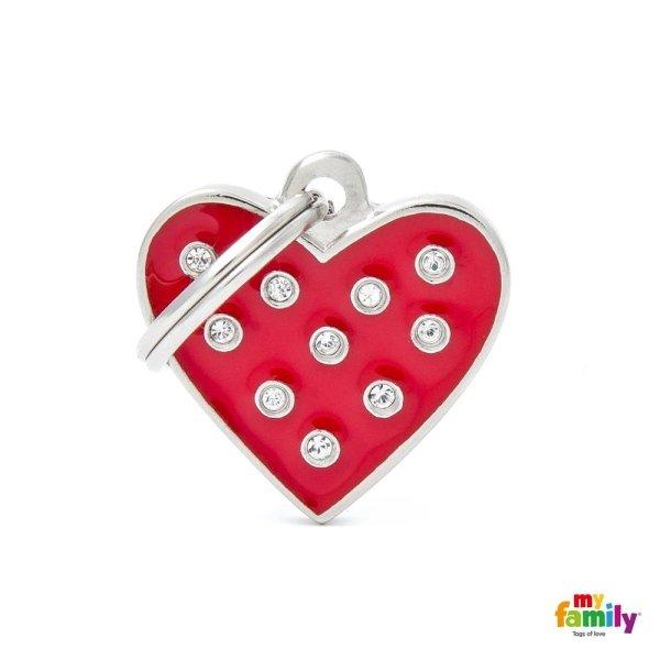portachiave a forma di cuore rosso