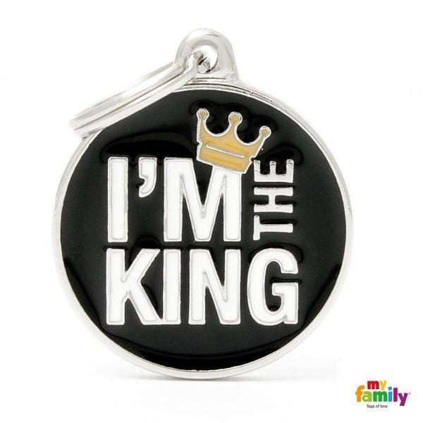 portachiave con scritta i m the king