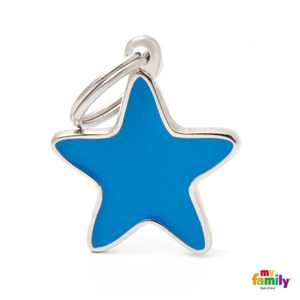 portachiave in forma di stelle con colore blu