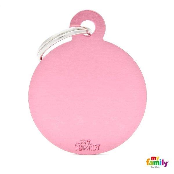 medaglietta ciondolo rosa