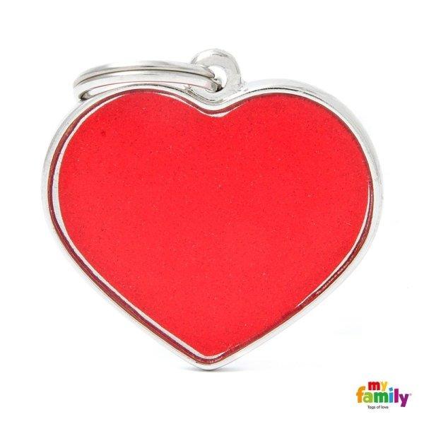 ciondolo rosso a forma di cuore