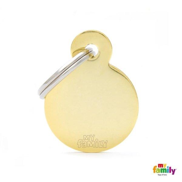 medaglietta giallo chiaro