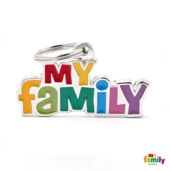 portachiave con scritta my family