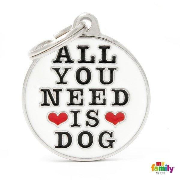 portachiave con scritta tutti bisogno il cane