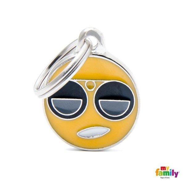 portachiave in forma di sorriso con occhiali
