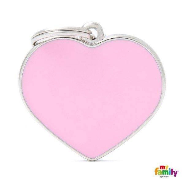 ciondolo cuore rosa